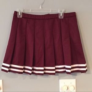 "Dresses & Skirts - Maroon and White ""Cheerleader"" Skirt"